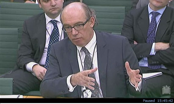 James Crosby under questioning